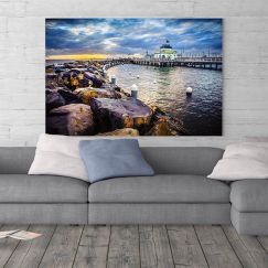 St.Kilda Pier Kiosk Sunset on the Harbour I Limited Edition I Photographic Print or Canvas