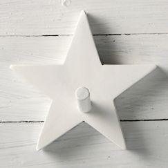 Star Shaped White Timber Peg