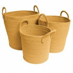 Storage Baskets | Mustard - Large