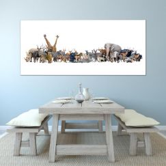 Sunny | Animals Of The World | Stretched Canvas Print by Tusk Gallery