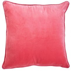 Sunshine Pink Velvet Cushion | by Canvas & Sasson