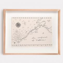 Surfcoast of Victoria Map Illustration | Print by Adrianne Design