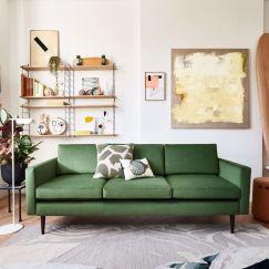 Swyft | Model 01 Velvet 3 Seater Sofa | Vine