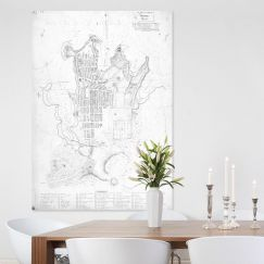 Sydney Vintage Map   Stretched Canvas/ Printed Panel
