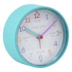 Tell The Time Silent Alarm Clock    Aqua