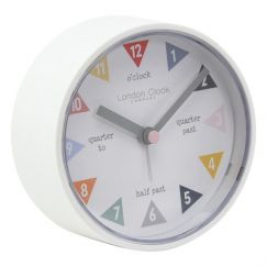 Tell The Time Silent Alarm Clock | White