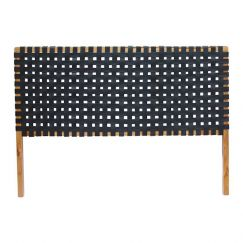 The Fern Headboard | Black Soot Leather | King Size | by Coco Unika