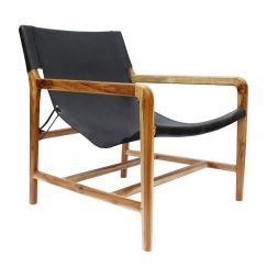The Moss Chair | Black Soot Leather | By Coco Unika