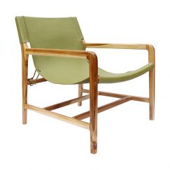 The Moss Chair   Olive Green Leather   by Coco Unika
