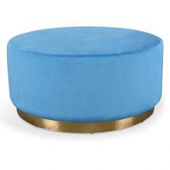 Thelma Ottoman | Light Blue Velvet | Interior Secrets