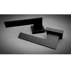 Thor | Square Rose Matte Black | Door Handle