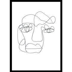 Tillie | One Line Art Print | Jess Marney Design