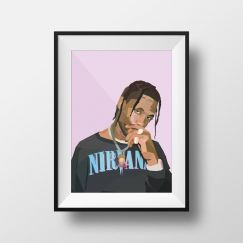 Travis Scott | Art Print | Framed and Unframed