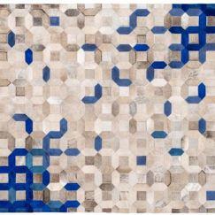 Trellis Rug by Art Hide   Blue