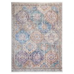 Trogney Blue Indoor Rug | Radiant Collection by Fab Habitat