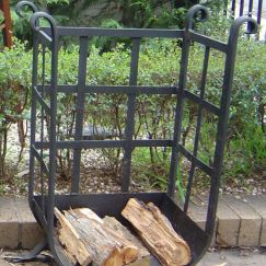 Tuscan Style Wood Holder by Aussie Heatwave Outdoor Fireplaces