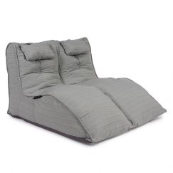 Twin Avatar Deluxe by Ambient Lounge | Silverline (UV Grade AA+) Indoor/Outdoor Fabric