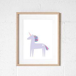 Unicorn | Lilac print