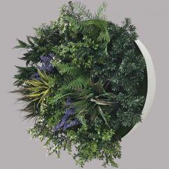 UV Lavender Fields 60cm Green Wall Disc | White