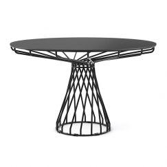 Velletri | Black 120cm HPL Board | Indoor Outdoor Dining Table