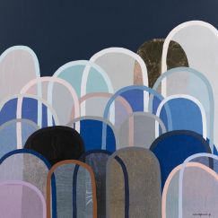 Velvet Hills in Navy by Antoinette Ferwerda   Limited Edition Print