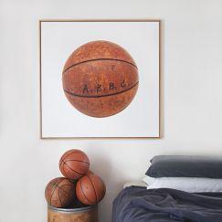 Vintage Basketball Canvas