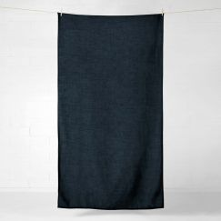 Vintage Linen Throw or Tablecloth | Slate by Aura Home