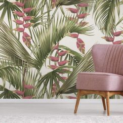 Vintage Palm Tropical Wallpaper