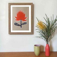 Waratah A4 Art Print | Unframed