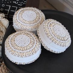 White Shell Baskets | by Raw Decor