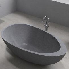 Whitney Grey Terrazzo Stone Bath 1600