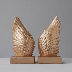 Wing Bookends   Gold