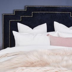 Winston Velvet Bedhead | Custom Made by BedsAhead | All Sizes