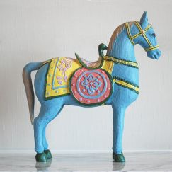 Woody The Horse | Blue Hand Painted