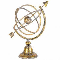 World Globe with Arrow