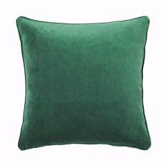 Zoe Velvet Cushion - Forest Green