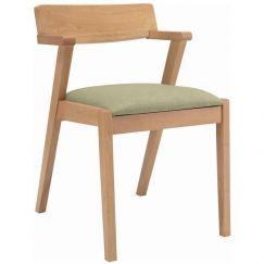 Zola Dining Chair   Oak + Spring Green   Modern Furniture