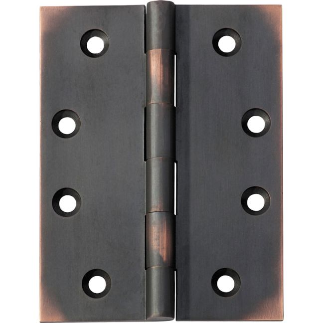 10x7.5cm Fixed Pin Hinge, Antique Copper | Schots