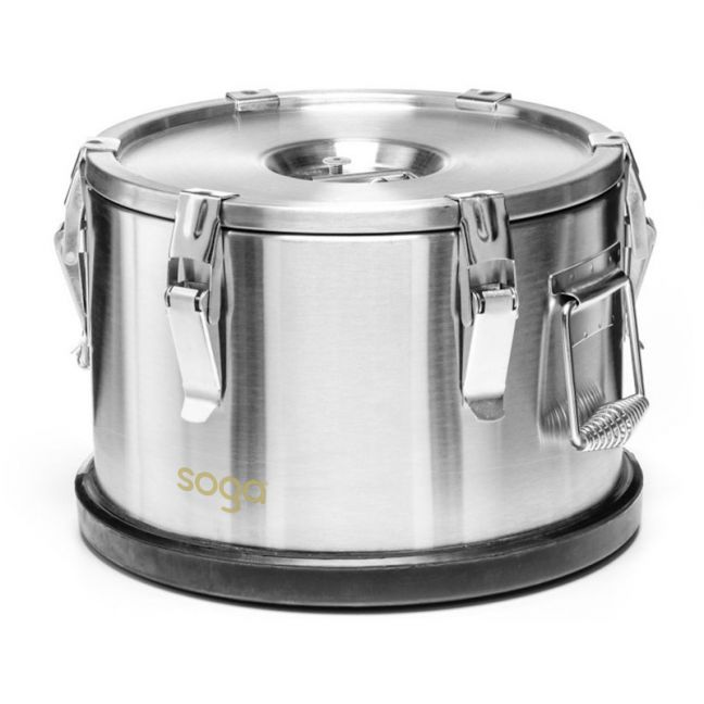 15L Stainless Steel Insulated Food Carrier with Anti Slip Rubber Bottom