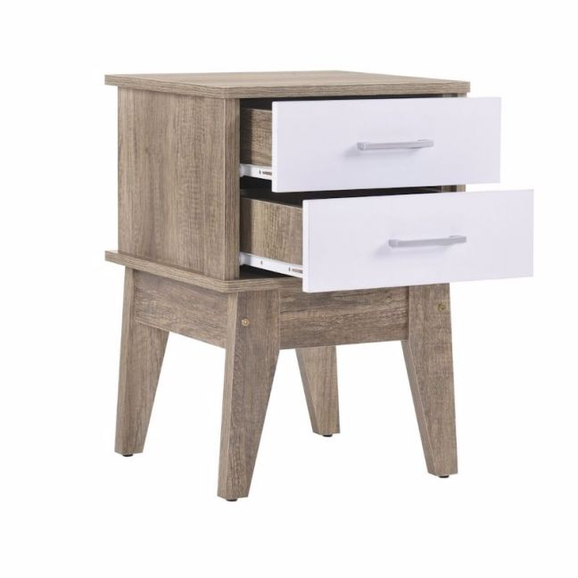 2 Drawer Bedside Table | Oak
