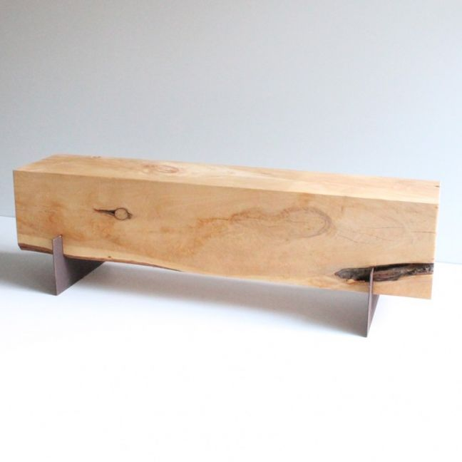 3 Seat Cypress Bench   Mild Steel Legs