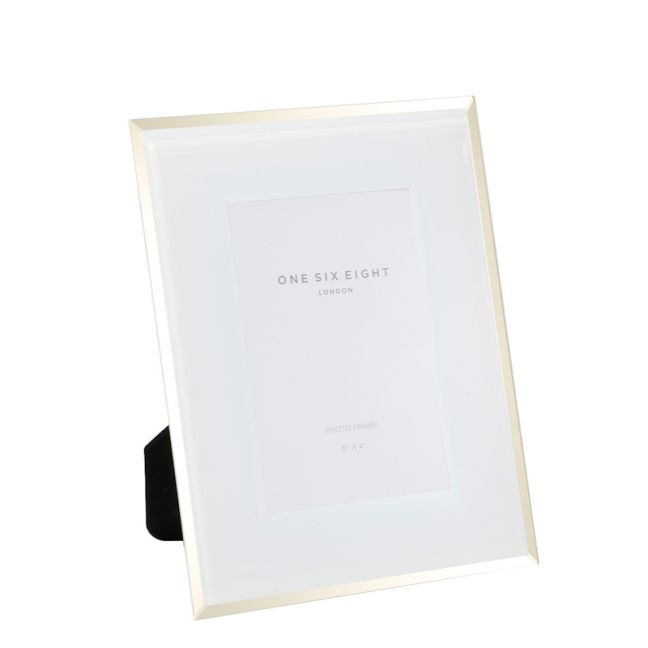 6 x 4 Glass Photo Frame   White   One Six Eight London