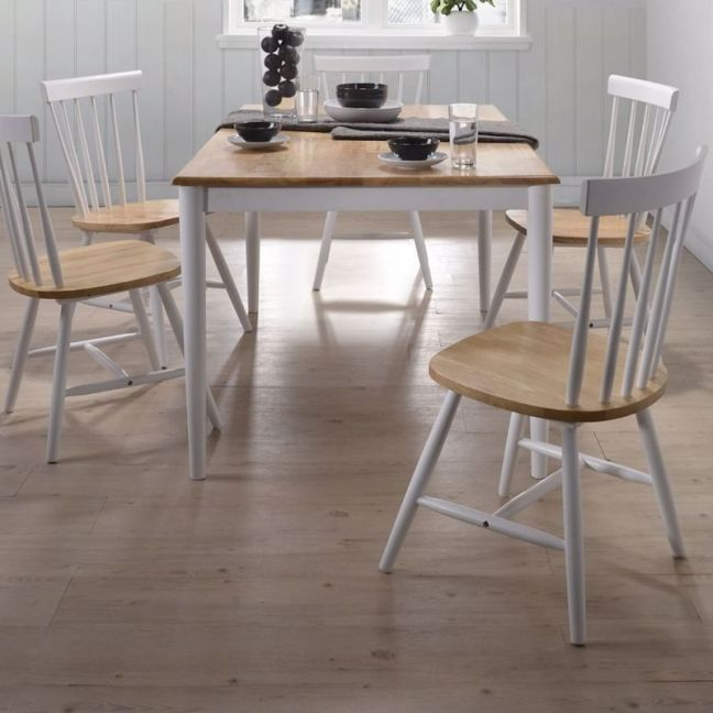 7 Piece Dining Set | Danish Natural Oak | 1.5m Table | 6 Chairs