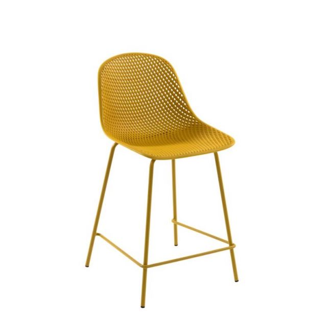 Quinby Outdoor Stool Yellow   65cm Seat