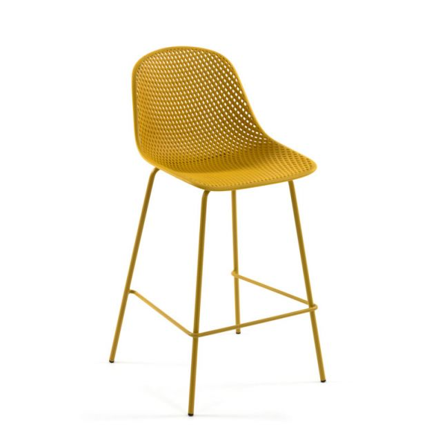 Quinby Outdoor Stool Yellow   75cm Seat