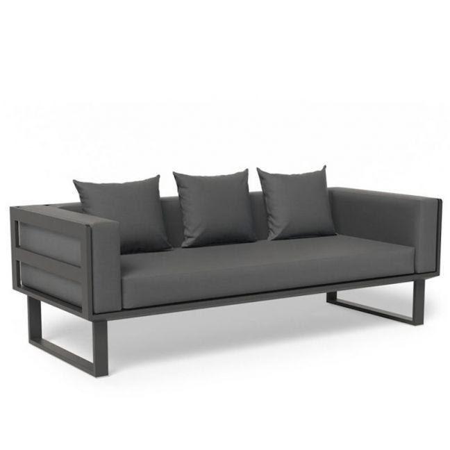 Vivara Outdoor 2.5 Seater Sofa   Charcoal
