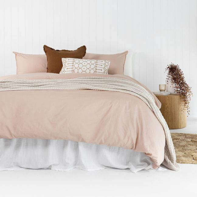 Temple Organic Quilt Cover Set | Rosewater
