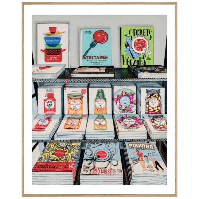 French Cookbooks   P7014 MultiColoured   Framed Print   Colour Clash Studio