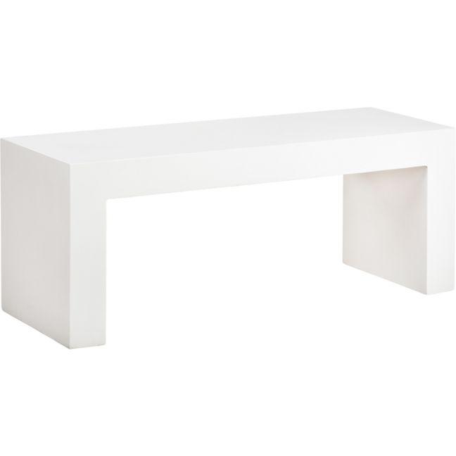 Abbas 160cm Concrete Bench, Bianca White | Schots