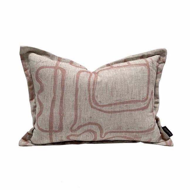 Abstract Cushion | Nude Oatmeal
